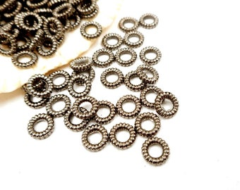 50/100 Rotguss strukturierten Ringe 6mm, Closed-Loop