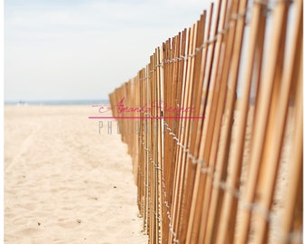 Fine Art Photography - 11x14 Canvas Gallery Wrap - Beach Fence