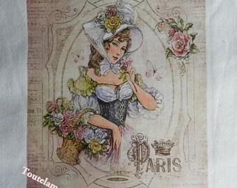 TRANSFER. Beautiful transfer 201 beautiful Paris flower market