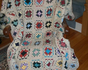 Granny Square Afghan- (1130853)