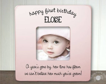 Personalized First Birthday Frame First Birthday Gift For Girl 1st Birthday 1st Birthday Unique Birthday Gift Happy First Birthday IB5FSBABY