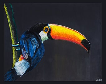 Brazilian Nature • Blue Tucan • Art Print