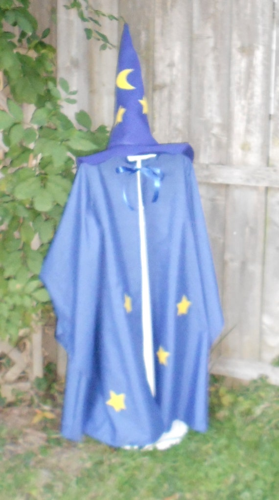 children s wizard costume wizard cloak and hat blue
