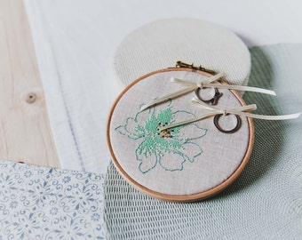 Embroidered wedding ring