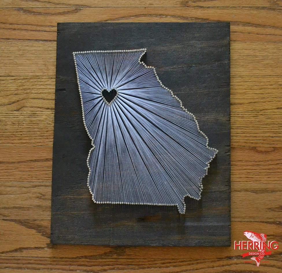 Stained Georgia State String Art Atlanta Georgia Stained