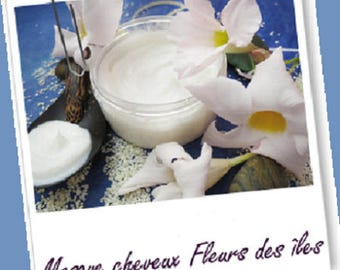 """Mask/after shampoo/facial hair dull/dry / damaged hair """"Flowers of the Islands"""" 100ml organic"""