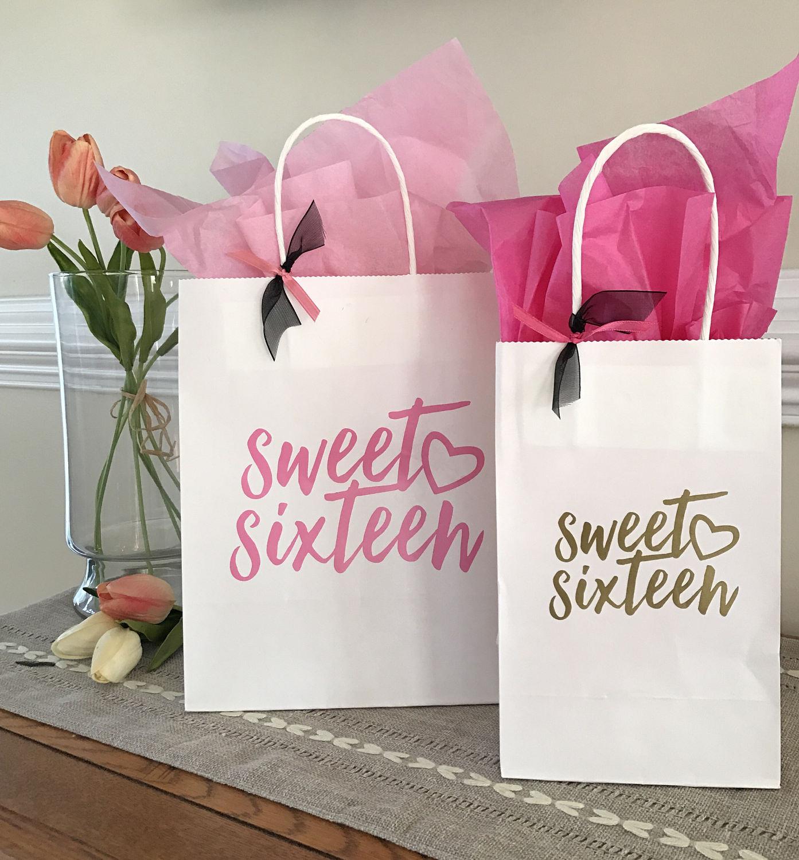 Sweet Sixteen Birthday 16th Birthday Party Favors Custom
