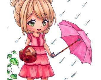 Rainy Day Suzie - Digital Stamp