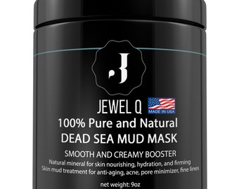 Dead Sea Mud Mask for Face & Body, 9 Oz - Made In USA - Pore Minimizer, Anti-Aging, Acne, Oily Skin, Blackheads - Clay Mask Facial Treatment