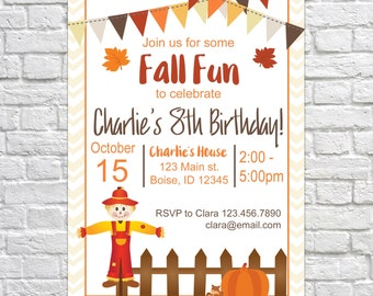 Printable bonfire party invitation fall birthday invite printable fall party invitation fall birthday invite pumpkin invitation autumn harvest kids filmwisefo Images