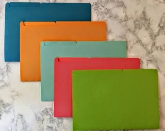 Mini File Folders - Assorted Colors