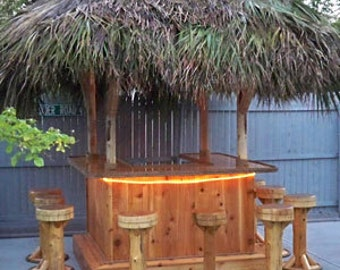 Tiki Bar Stools - Tiki Kev