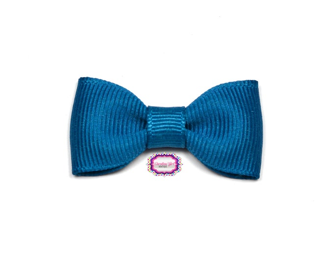 Deep Teal  Baby Hair Bow ~ 2 in. Bow with No Slip Grip ~ Small Hair Bows Newborns Toddler Girls