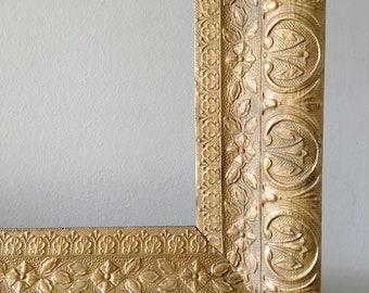 Large Vintage Gold Frame Ornate Display Frame