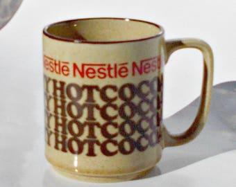 Nestles Hot Coco Mug,Vintage Nestle Hot Chocolate Mug, Nestle Advertising Mug, Small Nestle Hot Cocoa Mug, Collectible Mug,Hot Chocolate Mug