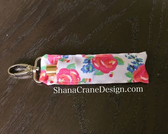 One Clip-On Lip Gloss Holder . Watercolor Floral