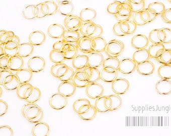 A012-G// Gold Plated Jumpring, 24-25 Gauge, 5.5mm, Glossy, 200 Pc