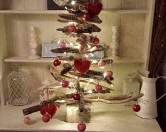 Handmade Unique Cornish Driftwood All Seasons / Christmas Tree 60cm