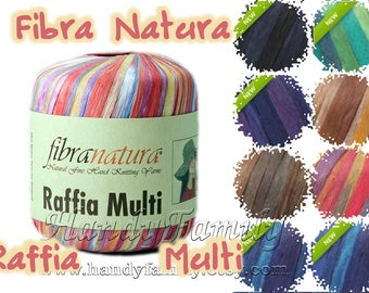 Natural Cellulose Viscose Rayon yarn Raffia Multi Fibra Natura Vegan yarn Hypoallergenic yarn Multicolore Trim band WHOLESALE DSH