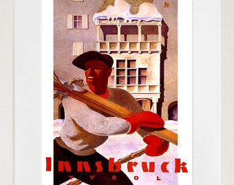 Europe Art Print Tyrol Vintage Travel Poster (TR80)