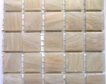 """20mm (3/4"""") Cream Off White MARBLED BEVELED Mosaic Tiles/Discount Tile/Craft Mosaic Supplies"""