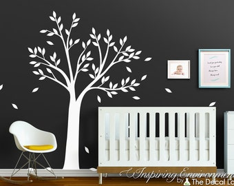 Tree Wall Decal for Baby Room Decor - White Tree Decal - Baby Wall Tree Sticker - WAL-2155A