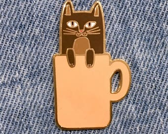 COFFEE CATS Coffee Cat Enamel Pin