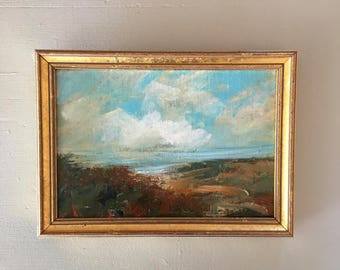Landscape Painting- Framed- Small Painting - Original Painting- 6 x 8-1/2 approx. inch - including Frame -  Collectible - Fine Art