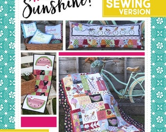 Hello Sunshine Sewing Pattern Book designed by KimberBell Sewing Version