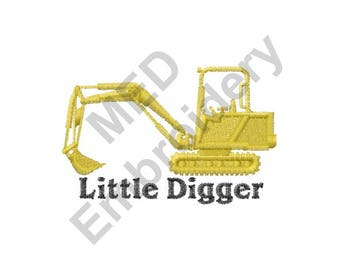 Digger - Machine Embroidery Design, Backhoe Digger, Little Digger