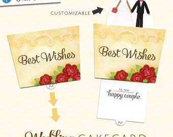 Match the Bride & Groom Wedding Card  |  Best Wishes Wedding CakeCard  | Interactive Pop-Up Sliding Greeting Card