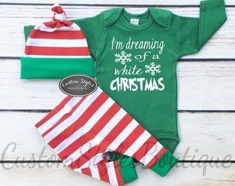 Baby Boys 1st Christmas Outfit Personalized Grey Bodysuit