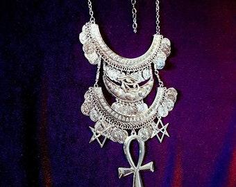 Hermetic Golden Dawn Neckpiece - occult hermetic order  freemason qabalah magical order egyptian goth