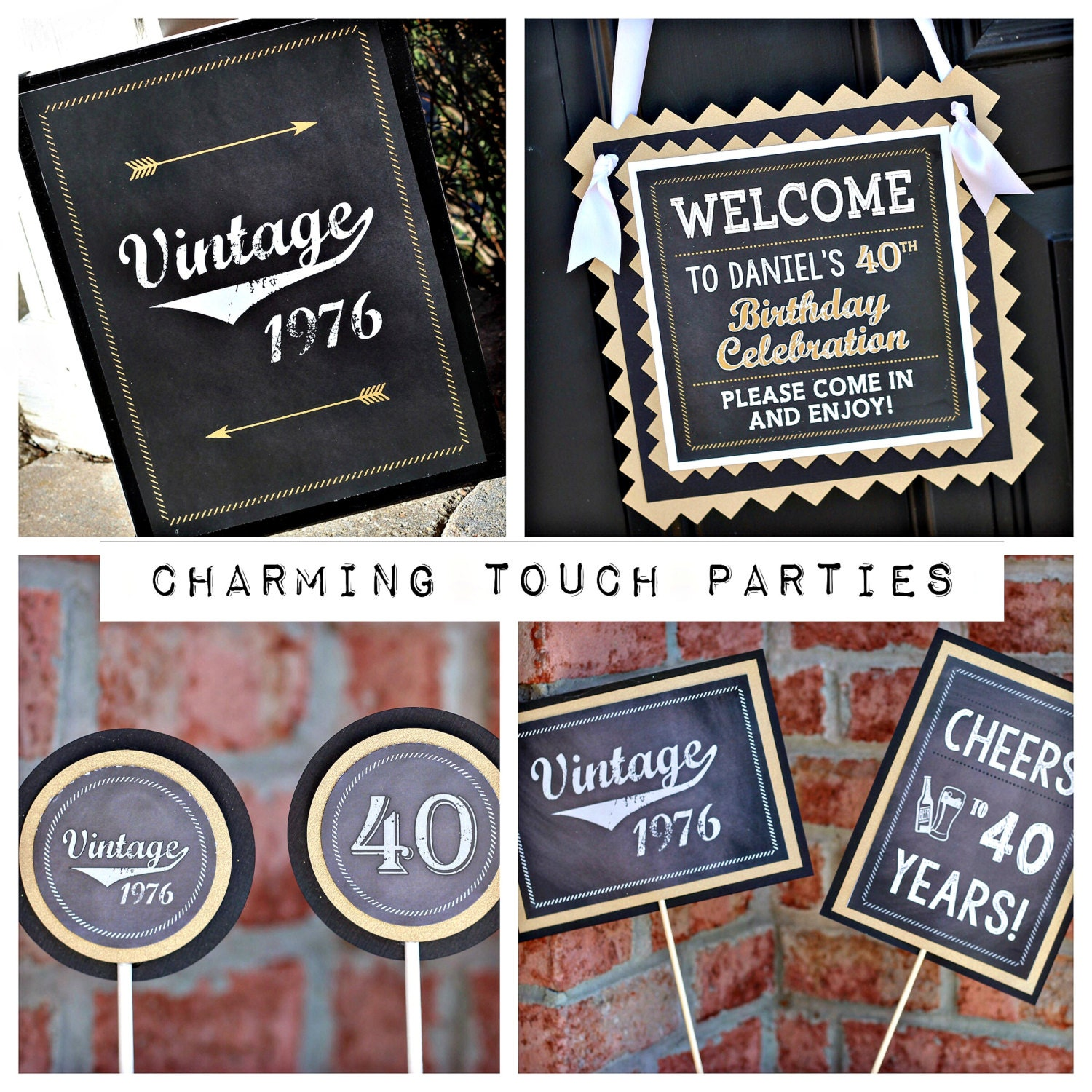 40TH BIRTHDAY PARTY Decorations 40th Party Package 40th