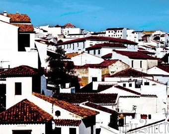 Houses in Ronda, Spain 5x7 Inch Photographic Print