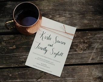 Wedding Invitation // Caligraphy // Copper // Autumn