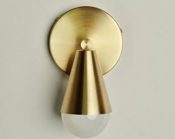 Karma Brass Wall Sconce, modern wall light, hallway lighting, reading light, UL listed
