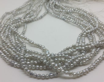 Mini Gray Pearls, full strand