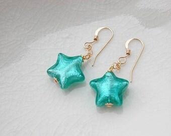 Murano Glass Star Earrings