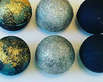 8 mini bath bombs, glitter bath bombs, bath bombs, mothers day gift, variety pack, bridal shower favors, relaxation gift, spa gift, luxury