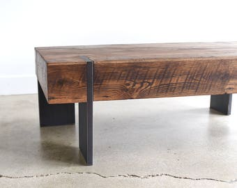 chunky coffee tables etsy. Black Bedroom Furniture Sets. Home Design Ideas