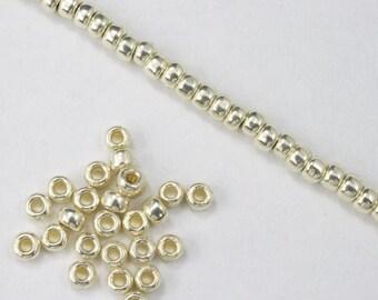 8/0 Galvanized Silver Seed Bead (20 gram) #JFP007