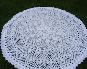 Lily circular baby shawl knitting pattern in DK Instant download PDF