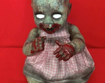 Ann Sane is a OOAK zombie baby art doll