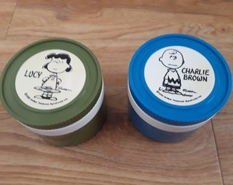 Charlie brown thermos,  1950's Charlie Brown , Lucy  thermos, vintage thermos