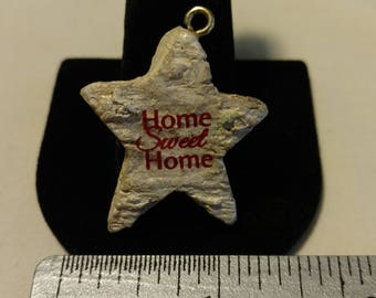 "Vintage ""Home Sweet Home"" Pendant"
