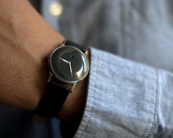 "Soviet watch ,Russian watch ,minimal watch , minimalist watch, Mens watch ,Mechanical watch ,white watch,classic watch ""Pobeda"""