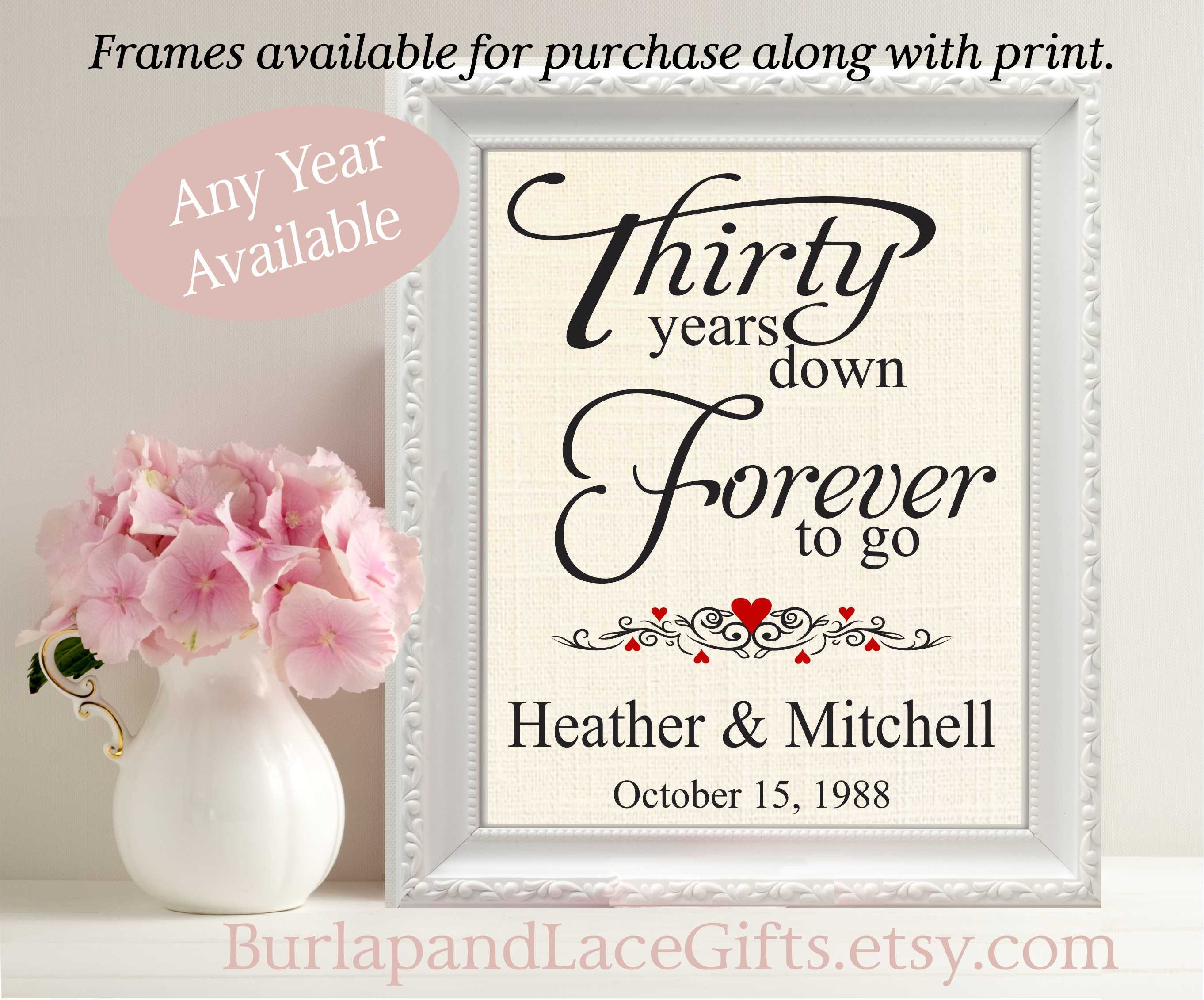 Fine Thirty Wedding Anniversary Gift Pictures The Wedding Ideas