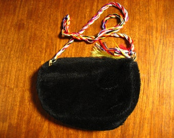 Fur Shoulder Bag Purse.