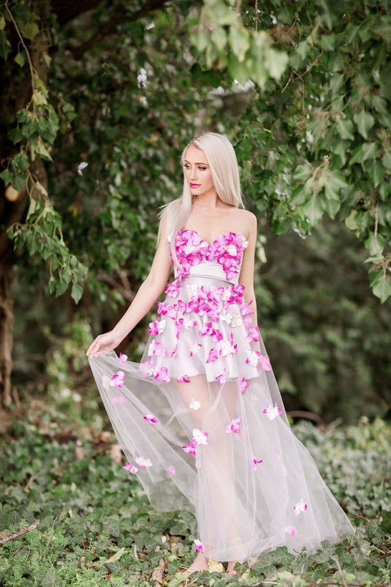 Floral Maxi Tulle skirt